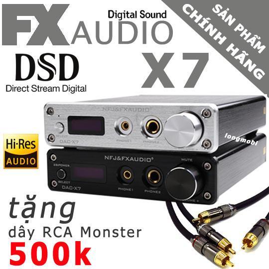 FX AUDIO X7 - ĐẦU GIẢI MÃ DAC 384KHZ/32BIT DSD256 - TẶNG DÂY MONSTER