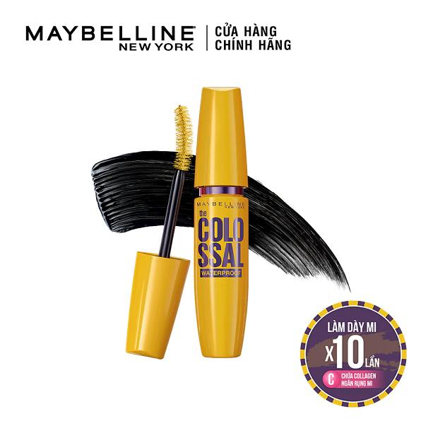 Mascara làm dày mi gấp 10 lần và ngăn rụng mi Maybelline Collosal Magnum 9.2ml