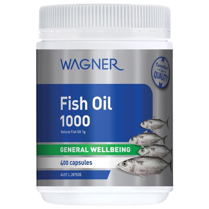 Wagner Fish Oil 1000 400 Capsules - Dầu cá Wagner Fish Oil 1000mg 400 viên
