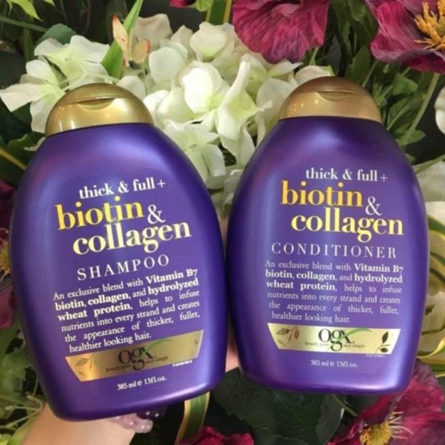 [HCM]DẦU GỘI BIOTIN  DẦU XÃ BIOTIN  Combo Gội Xả Biotin & Collagen