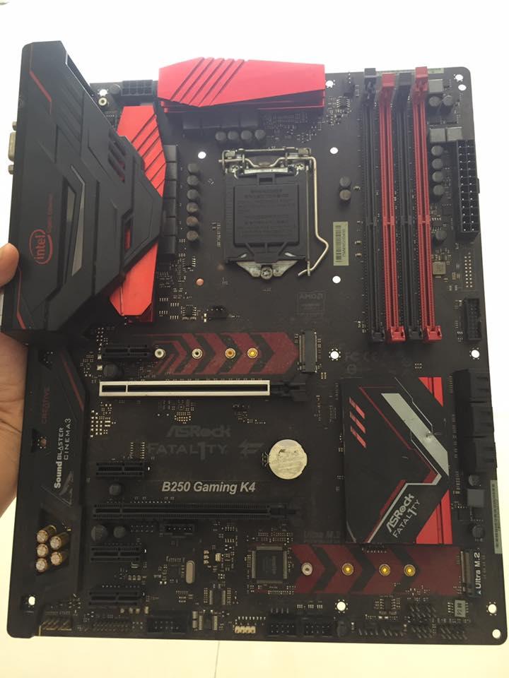Combo Main B250 Gaming k4 + CPU G4400 + ram 4gb DDR4 bus 2400 + Tản CPU LED bảo hành 12 tháng lỗi 1 đổi 1
