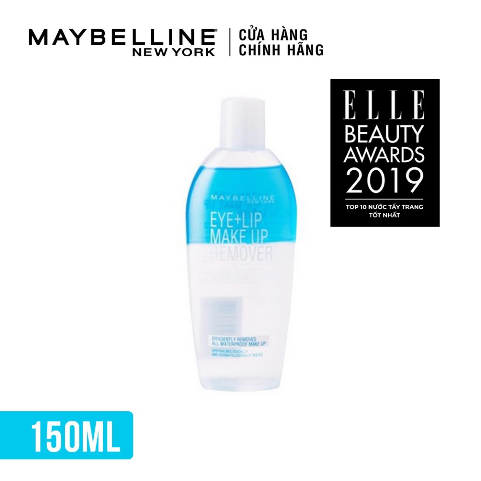Nước tẩy trang vùng mắt và môi Maybelline New York Eye & Lip Makeup Remover 150ml