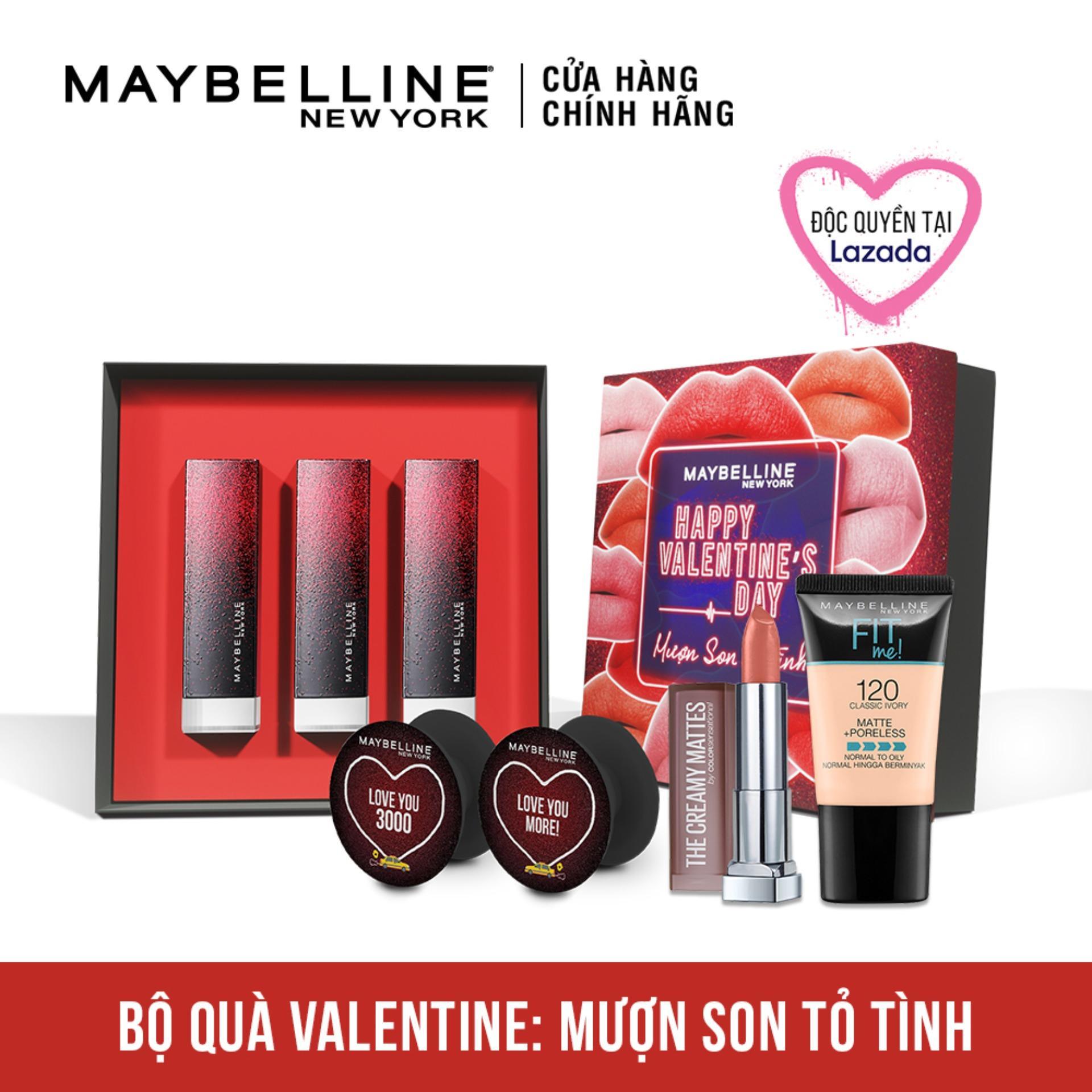 Bộ trang điểm son lì lâu trôi Mượn son tỏ tình Maybelline - Phiên bản giới hạn dành riêng cho Valentine