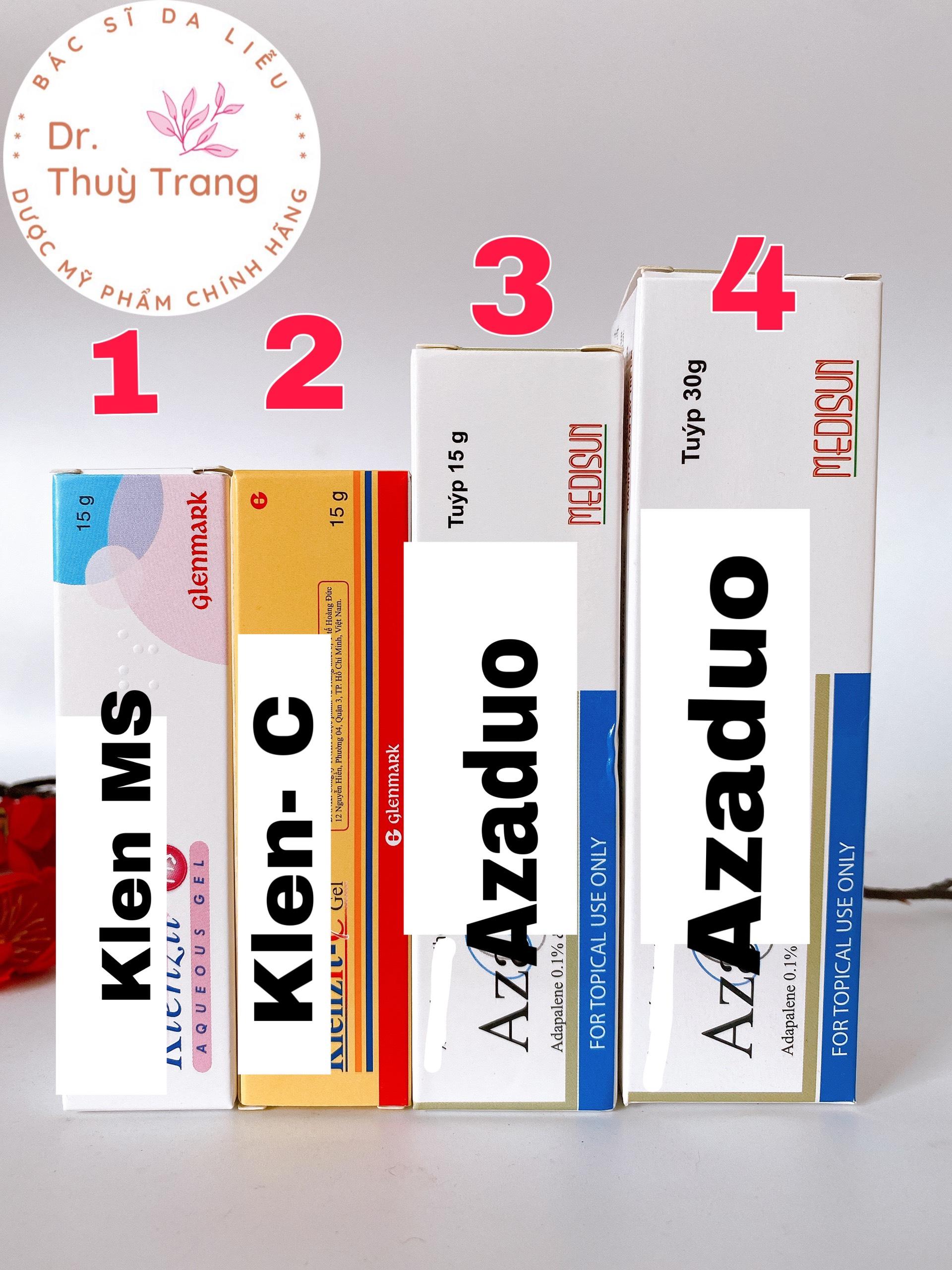 KLENZIT_MS/C AZADO gel giảm m.ụn ẩn đầu đen đầu trắng v.iêm