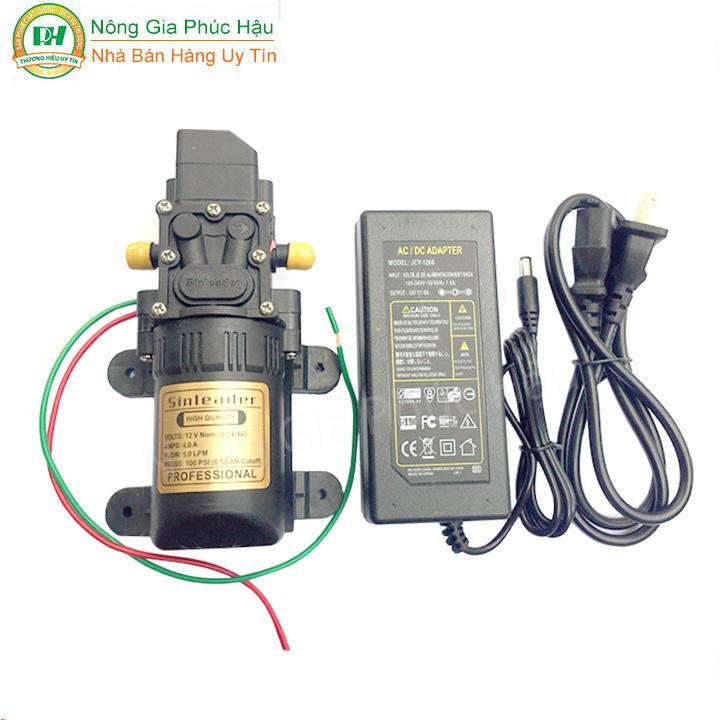 [HCM]máy bơm sinleader 12v + adapter 12v 6a