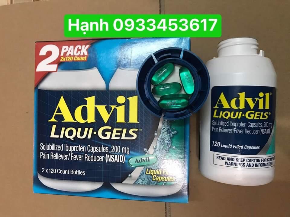 Advil liqui gels 240 viên