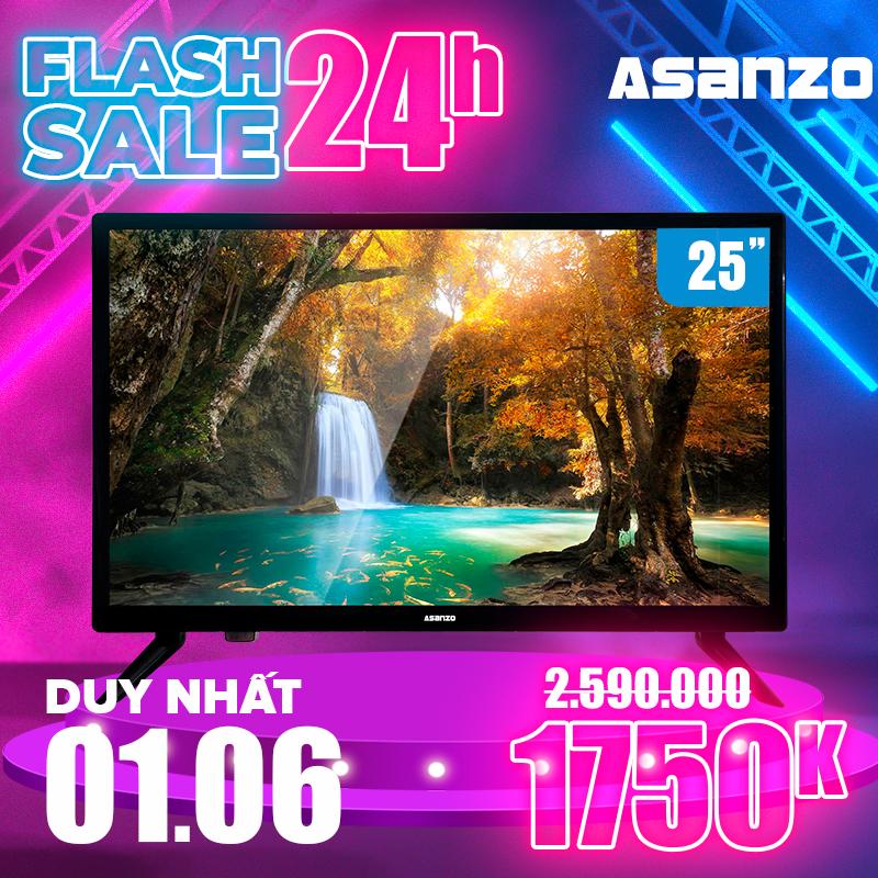 Tivi LED HD 25 Inch Asanzo 25S200T2 (HDMI VGA AV Truyền hình số mặt đất Âm Thanh Vòm Ảo Dolby) - Bảo Hành 2 năm