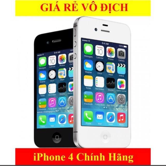 Điện thoại smartphone giá rẻ iphone4 zin 16gb cảm ứng có sim nghe gọi wifi