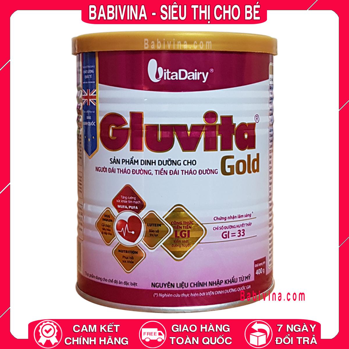 [LẺ GIÁ SỈ] Sữa Bột Gluvita Gold 400G Dành Cho Người Bệnh Tiểu Đường