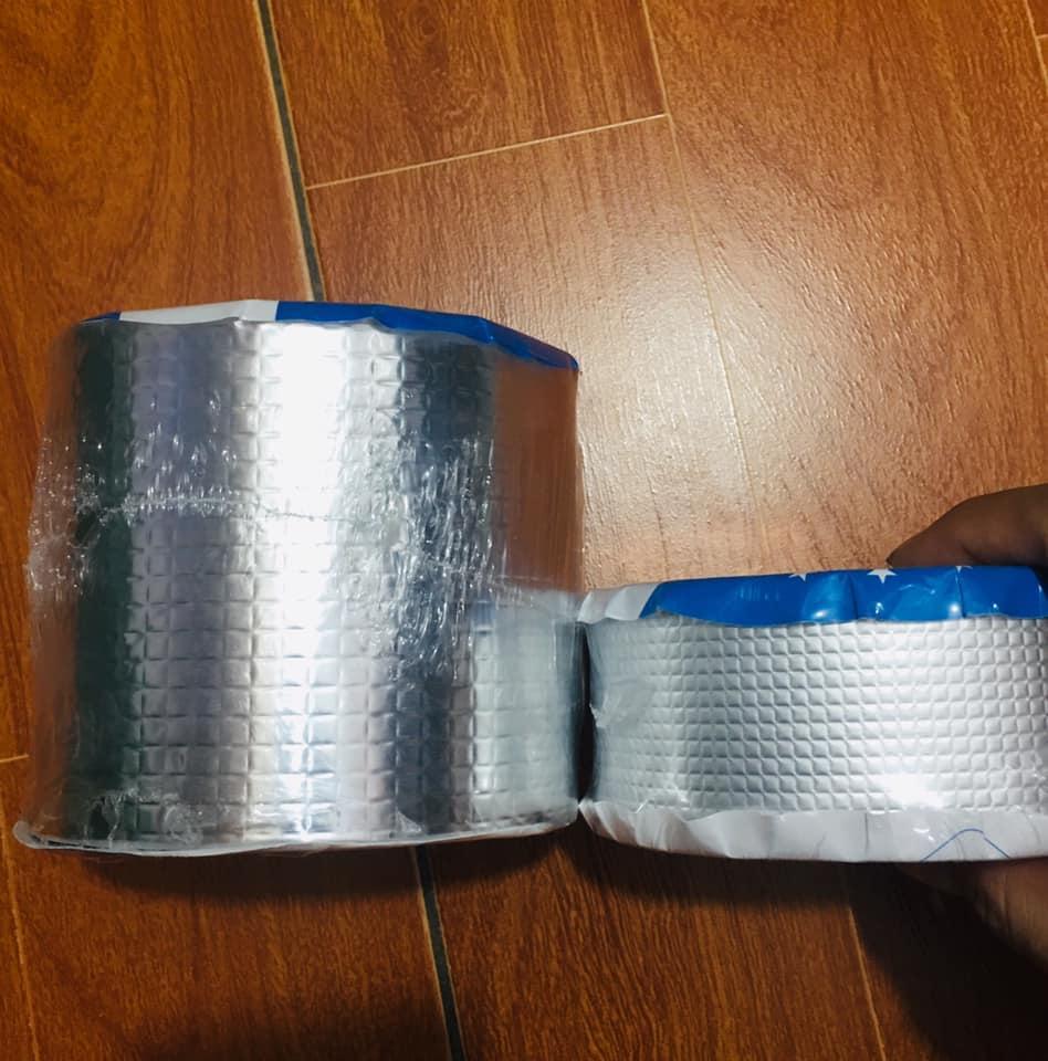 (Loại to khổ 10cmx5m) - Băng Keo Siêu Dính Đa Năng Keo dán chống thấm đa năng cho tường trần nhà mái tôn ống nước bể nước xô chậu phao bơi bể bơi đồ bơm hơi