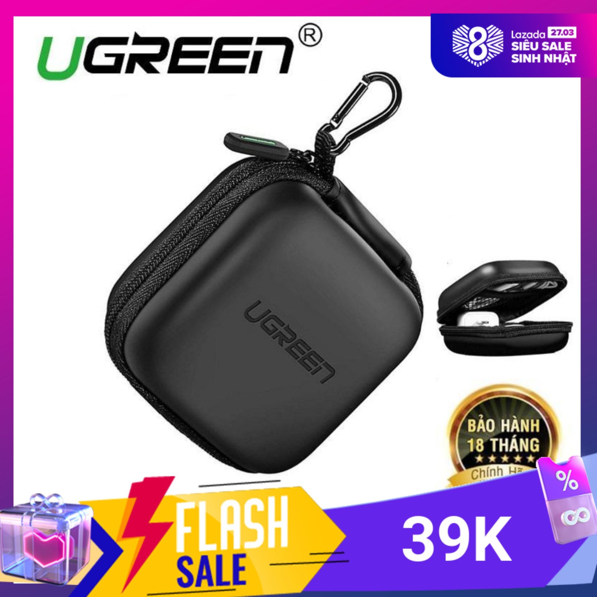 Hộp đựng tai nghe thẻ nhớ cáp USB chống sốc chống nước UGREEN 40816 - Hãng phân phối chính thức