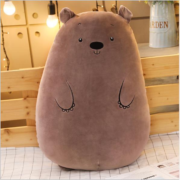 Gấu Bông Ôm Hình Heo Mèo Gấu Tròn Siêu Mềm Mịn Ngộ Nghĩnh (2 Size)