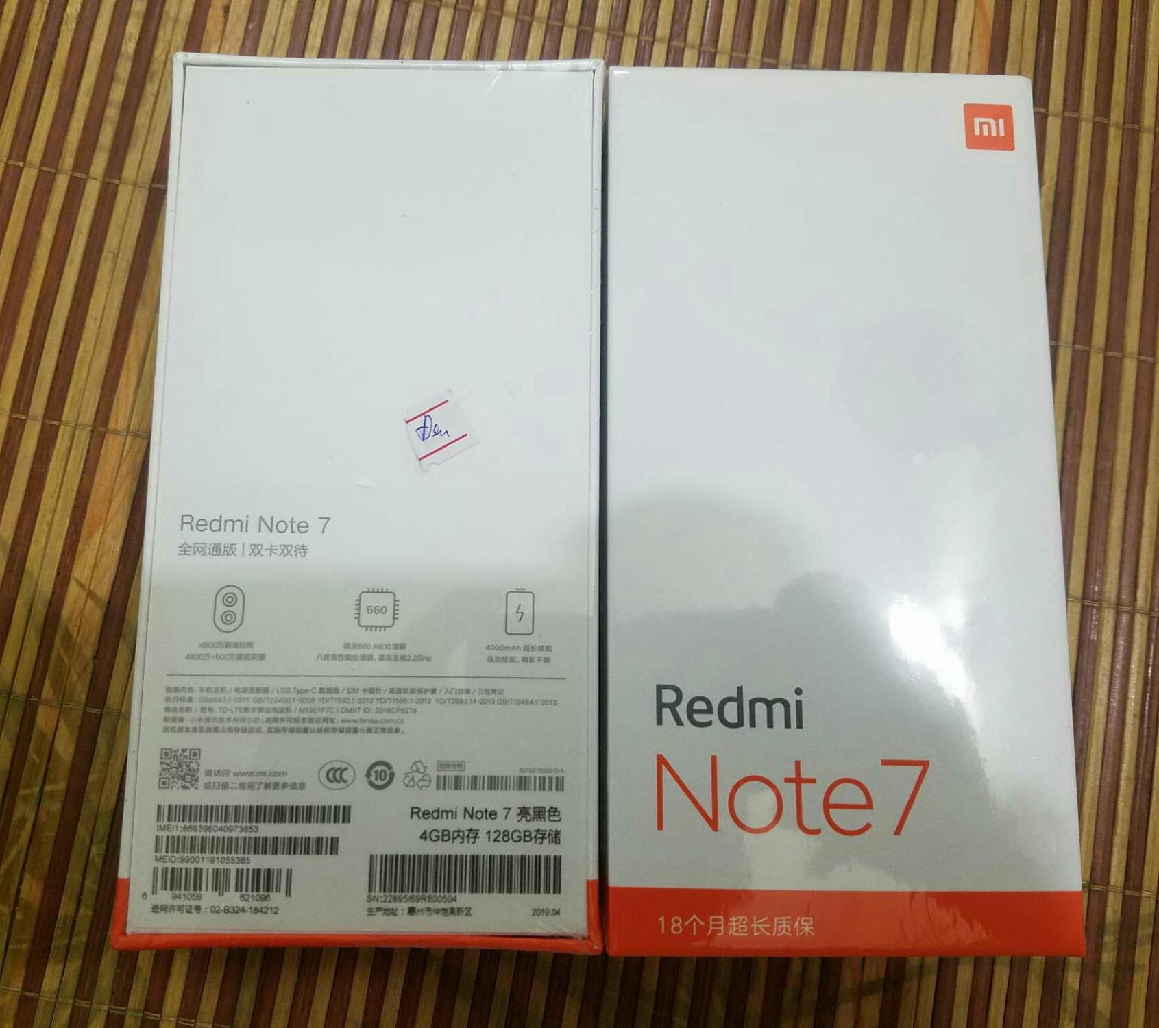 Xiaomi Redmi Note 7 (4/128)GB, nguyên seal.
