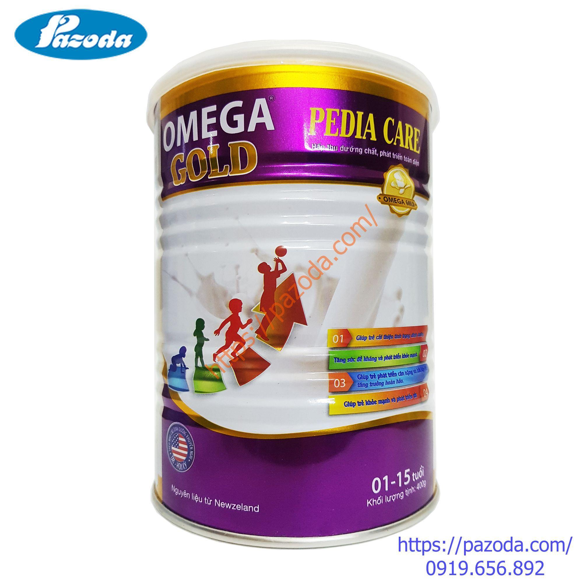 Sữa bột cho trẻ từ 1 đến 15 tuổi OMEGA GOLD Pedia Care 400g