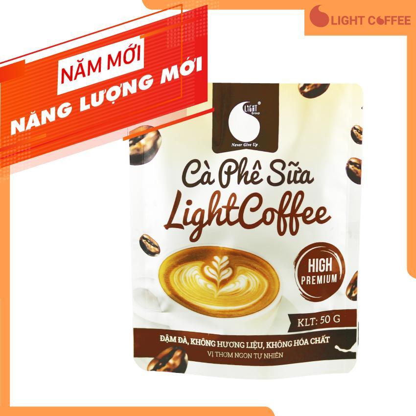 Cà phê sữa thơm ngon và tiện lợi  đặc biệt không pha trộn hương liệu  Light Coffee  gói 50g