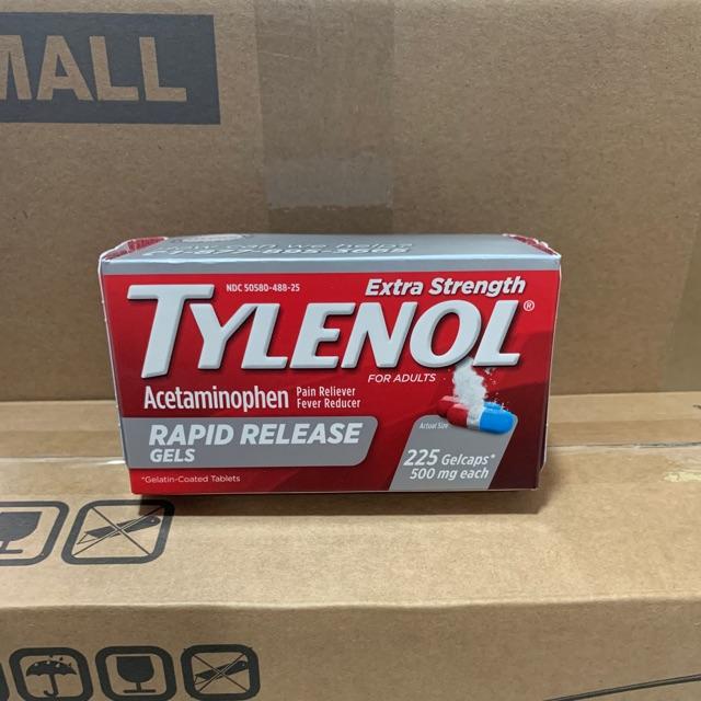 Vỏ Hộp Đựng Tylenol 225 Viên 500Mg