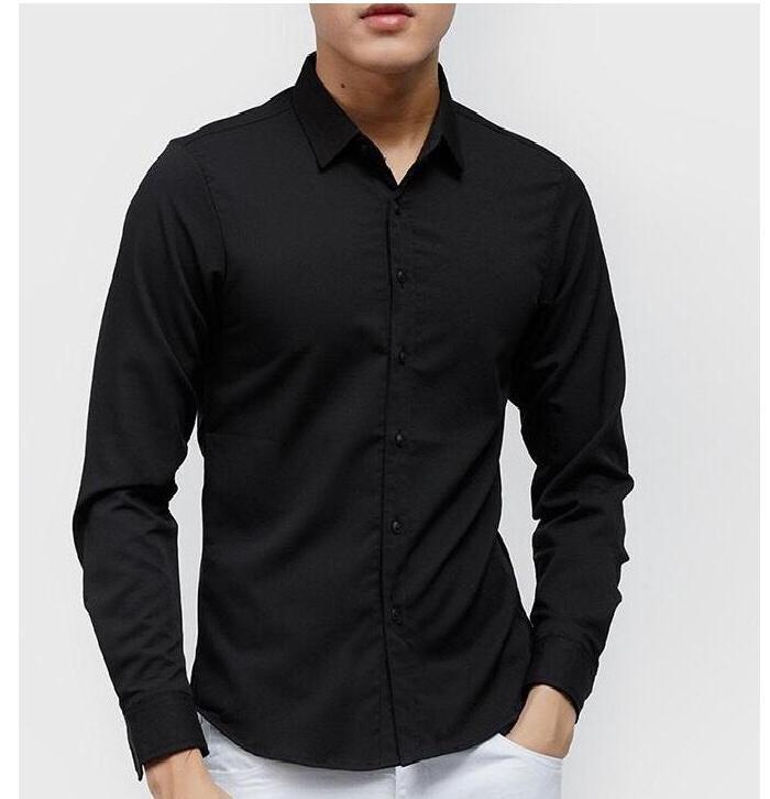 Áo Sơ mi nam đen  trắng Vải Thái TỐT BỀN áo Công Sở Áo sơ mi nam Thời Trang Hàn Quốc