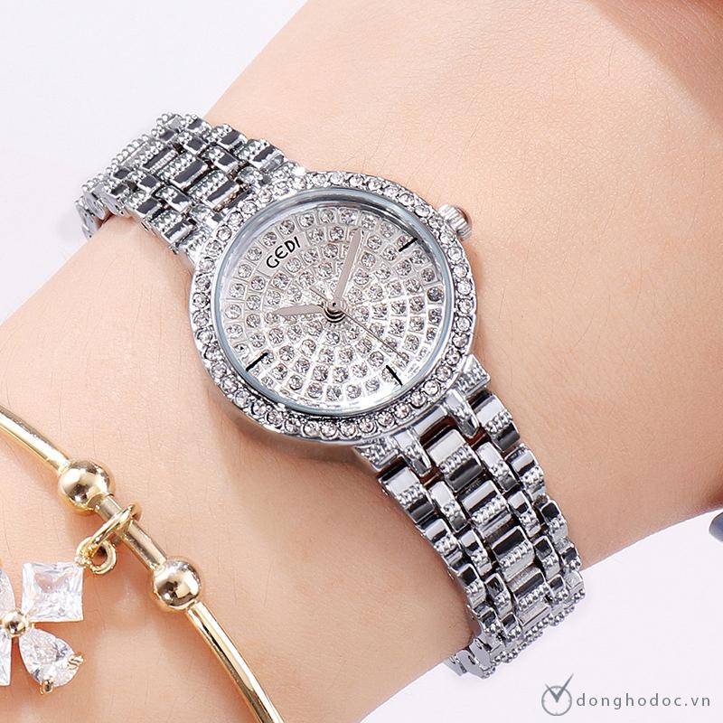 Đồng hồ nữ GEDI RUBY Nhỏ Xinh style KOREA + Tặng hộp & Pin + Bảo Hành 12 Tháng Toàn Quốc