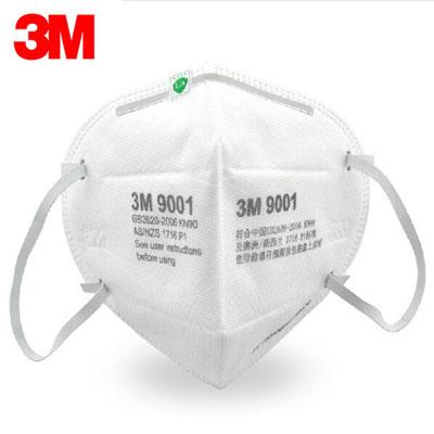 Khẩu trang 3M 9001A phòng chống Virut Lọc 90% Bụi Mịn & Khí Thải Chuẩn N90
