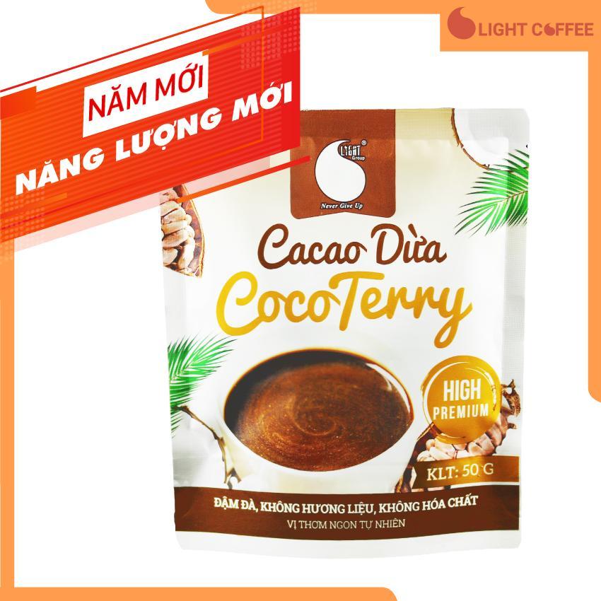 Bột CACAO DỪA CocoTerry độc đáo  thơm ngon  vị tự nhiên  đặc biệt không pha trộn hương liệu  gói 50g