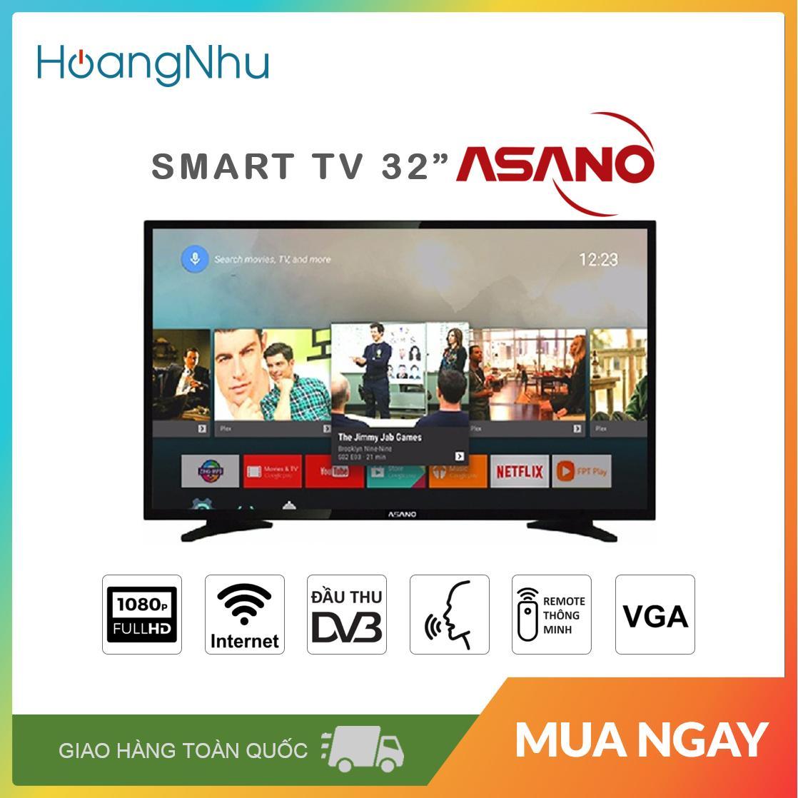 Smart Voice TV Asano 32 inch Kết nối Internet Wifi MODEL 32EK7 / 32EK9S (Full HD Android 8.0 Điều khiển giọng nói truyền hình KTS màu đen) - Bảo hành toàn quốc 2 năm