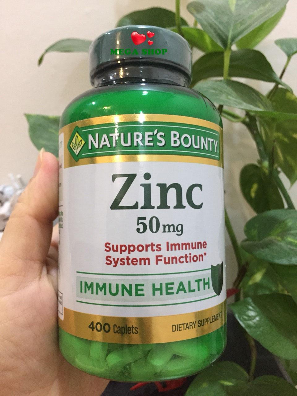 Bổ sung Kẽm Nature's Bounty Zinc 50mg (400v) - Hàng Mỹ