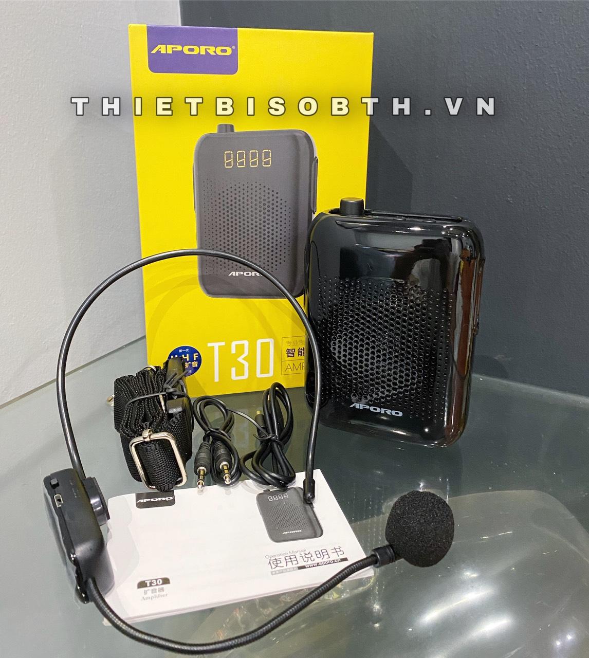 Loa trợ giảng không dây UFH T30 Aporo Kết nối bluetooth Pin lâu Sóng bắt xa