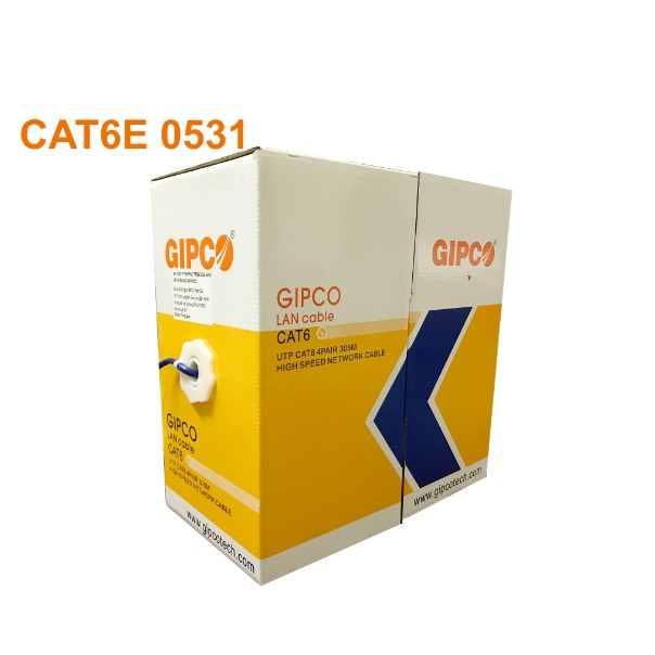 Dây cáp mạng cat6 Gipco 0531  bán lẻ có bấm sẵn 2 đầu