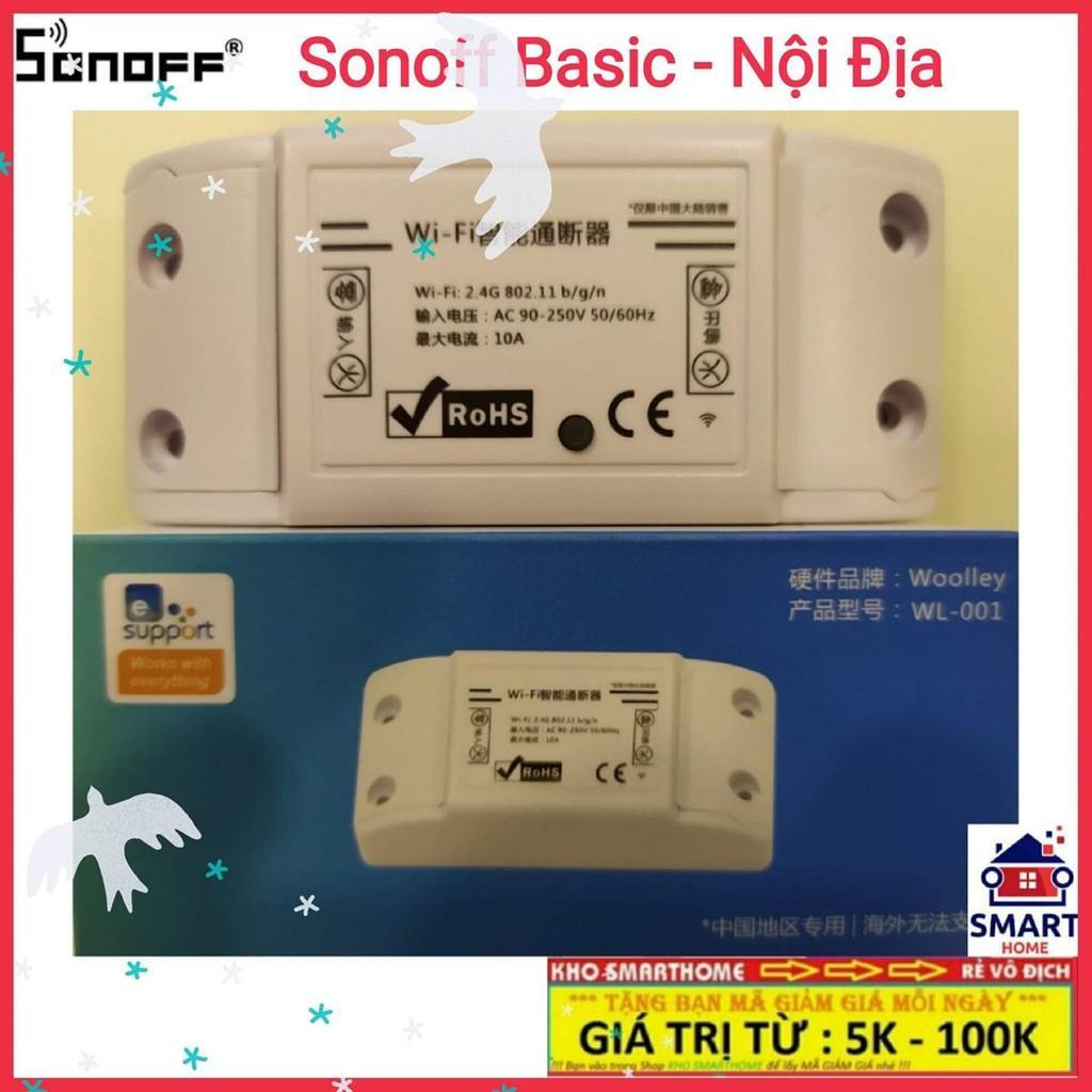 SONOFF BASIC SONOFF BASIC CN - Nội Địa Tiếng Trung - Công Tắc WIFI Điều Khiển Từ Xa Thông Minh