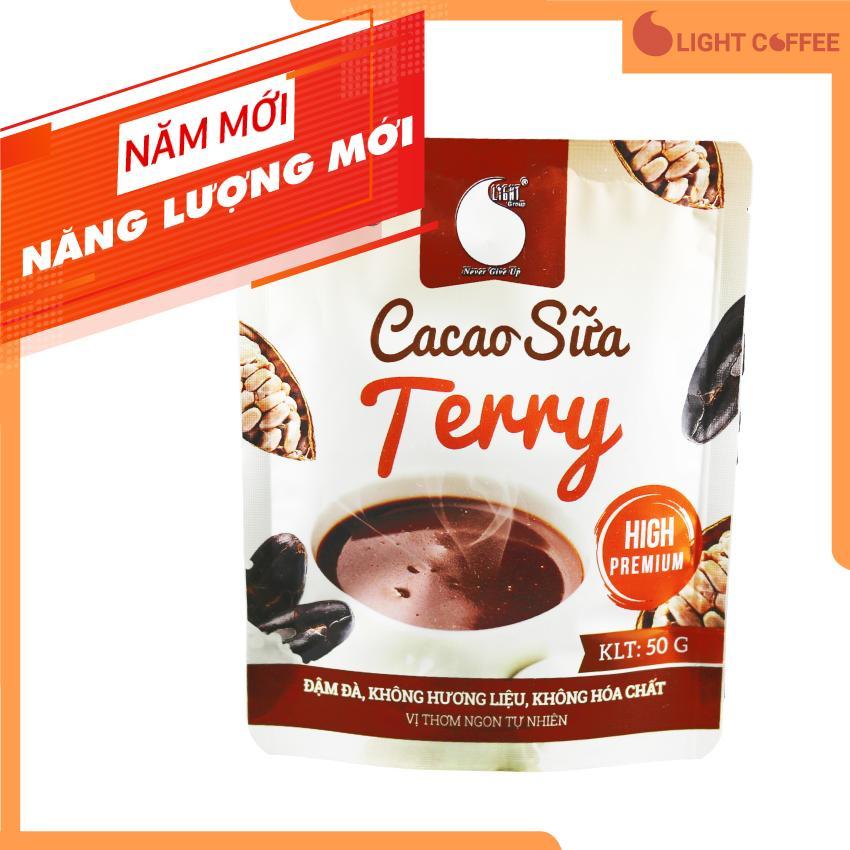 Bột Cacao sữa Terry thơm ngon và tiện lợi Light Cacao  đặc biệt không pha trộn hương liệu  gói 50g