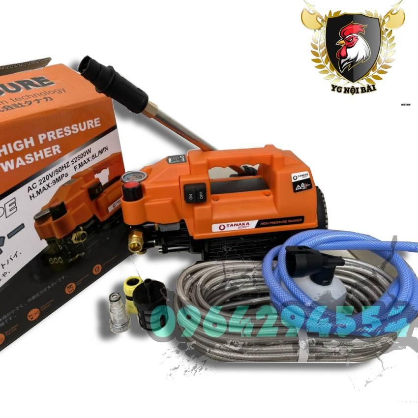 Máy rửa xe gia đình may rua xe công suất mạnh 2500W may rua xe mi ni máy rửa xe áp lực cao TANAKA máy xịt rữa xe dễ dàng sử dụng ống bơm nước 15m vòi bơm áp lực cao