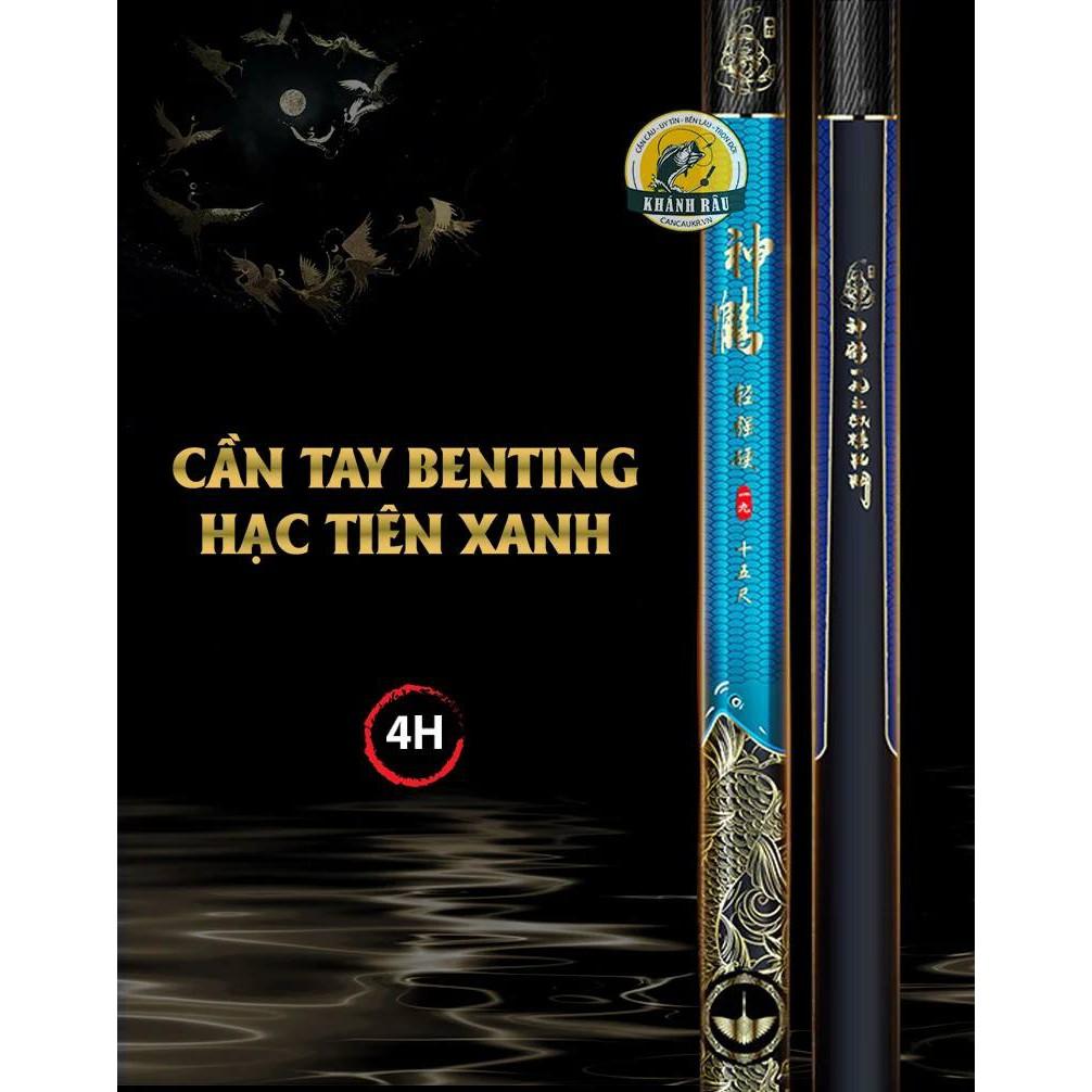 [HCM]Cần Câu Tay BenTing Hạc Tiên Xanh 4H