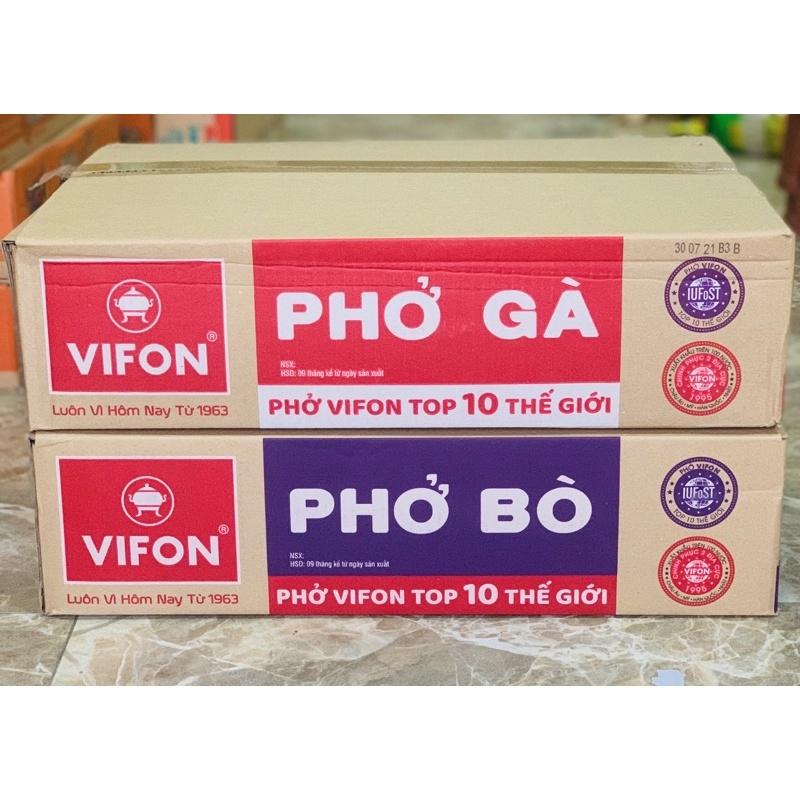 ◕☽☊  Phở bò - Gà Vifon thùng 30gói /1thùng (1gói x 65g)