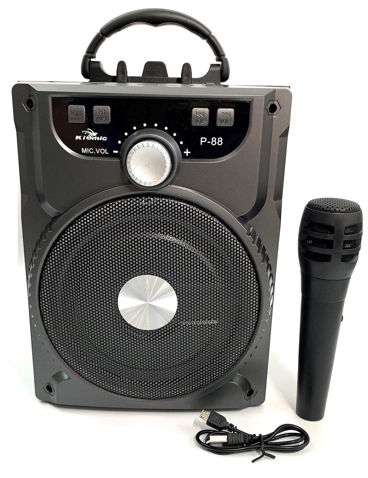 (Tặng Micro Hát Karaoke) Loa Bluetooth di động 20W Minchan - Loa kéo P87 NT8 NT9 Âm Thanh Cực Hay - Loa Mini - Loa Vi Tinh - Loa May Tinh KIOMIC