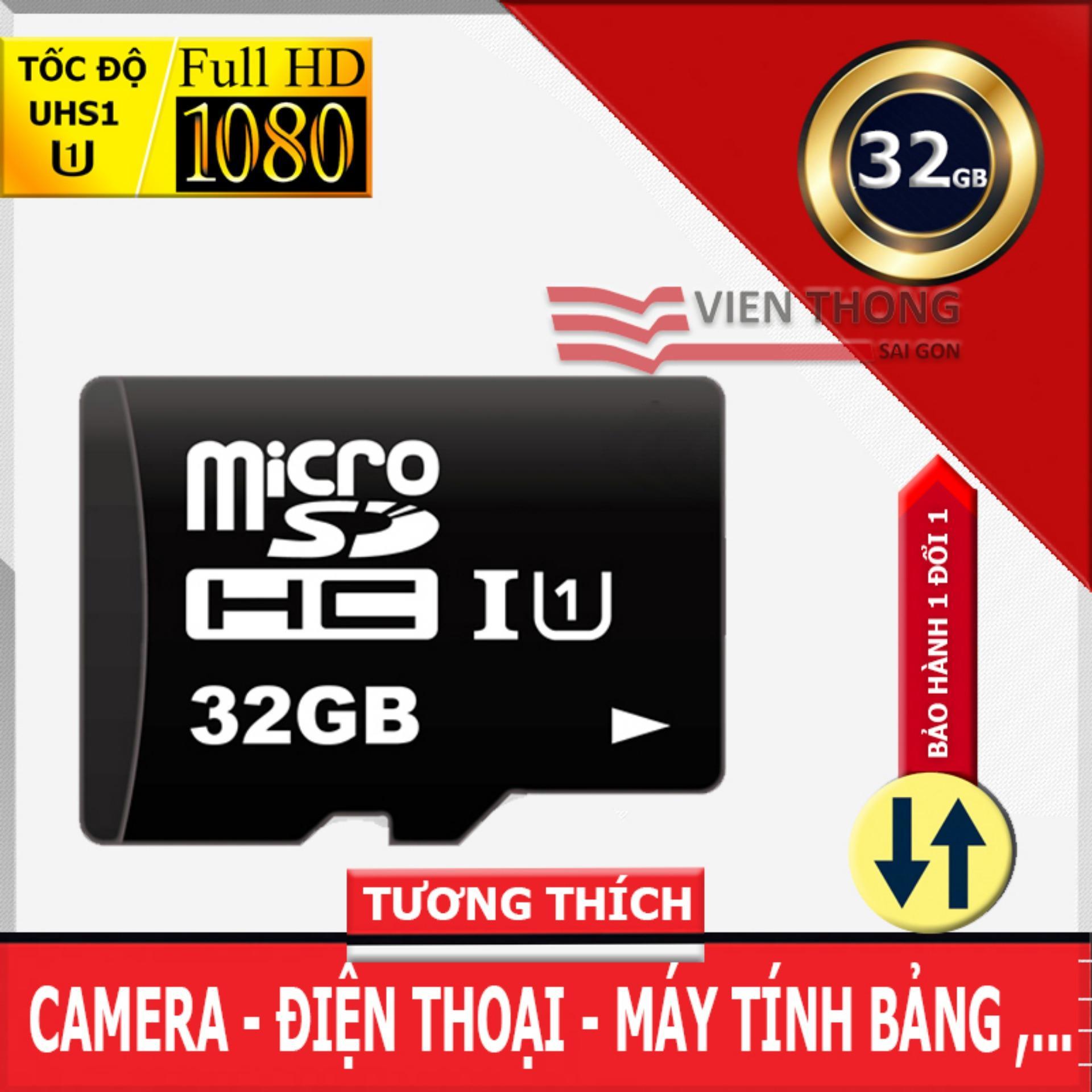 Thẻ nhớ 32GB UHS1 U1 tốc độ cao  MicroSDHC  Class10 -Bảo hành 12 tháng 1 đổi 1