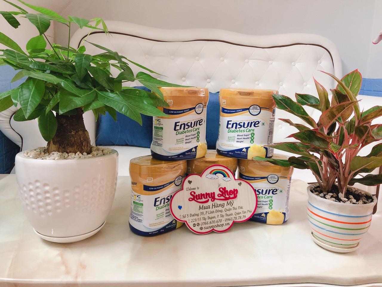 Sữa Ensure cho người tiểu đường vị Vanilla 400g-date mới về