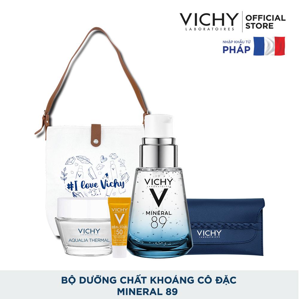 [Pre-sale] Bộ dưỡng Chất (Serum) Khoáng núi lửa cô đặc Vichy Mineral 89 30ml Giúp Da Sáng Mịn Và Căng Mượt