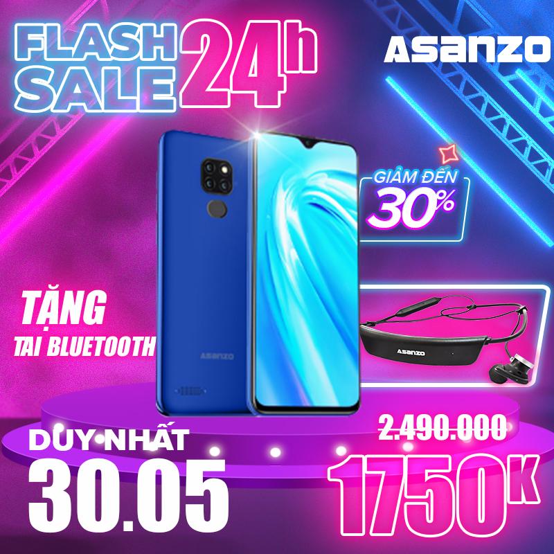 Điện Thoại Cảm Ứng IPS LCD 6.1 Inch Asanzo S6 (2 Sim Pin 3200 mAh Siêu mỏng Chống bụi) - Tặng tai nghe Bluetooth cao cấp - Hàng Phân Phối Chính Hãng Bảo Hành 1 Năm (Đen  Vàng  Xanh Dương)