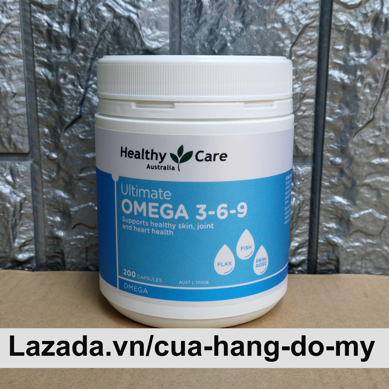 Viên uống Omega 3 6 9 Healthy Care Ultimate Của Úc 200 Viên - Omega 369 , Omega 3-6-9 tốt cho mắt, não và tim mạch