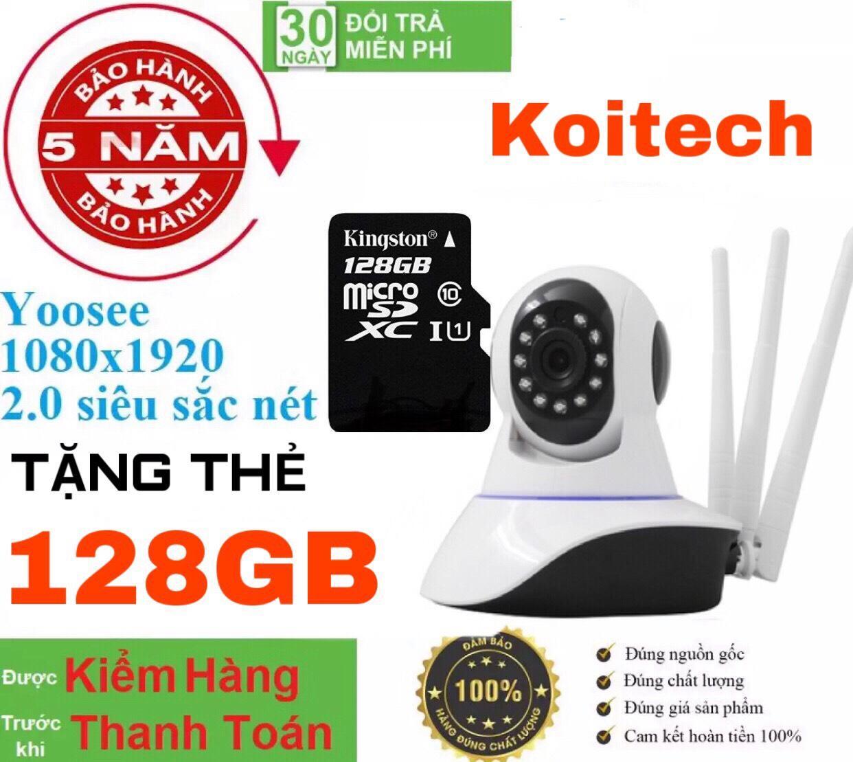 (Tặng Kèm Thẻ Nhớ 128GB CHUYÊN DỤNG Trị Giá 450k - BH 5 NĂM 1 ĐỔI 1 TRONG VÒNG 30 NGÀY) - CAMERA WIFI - YOOSEE WIFI SIÊU NÉT 2.0 FULL HD 1920 x 1080P