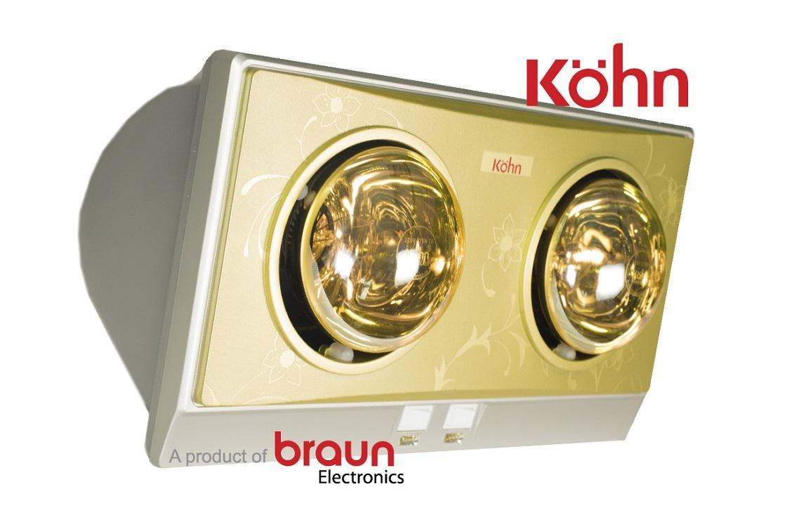 Đèn sưởi nhà tắm 2 bóng Braun KN02