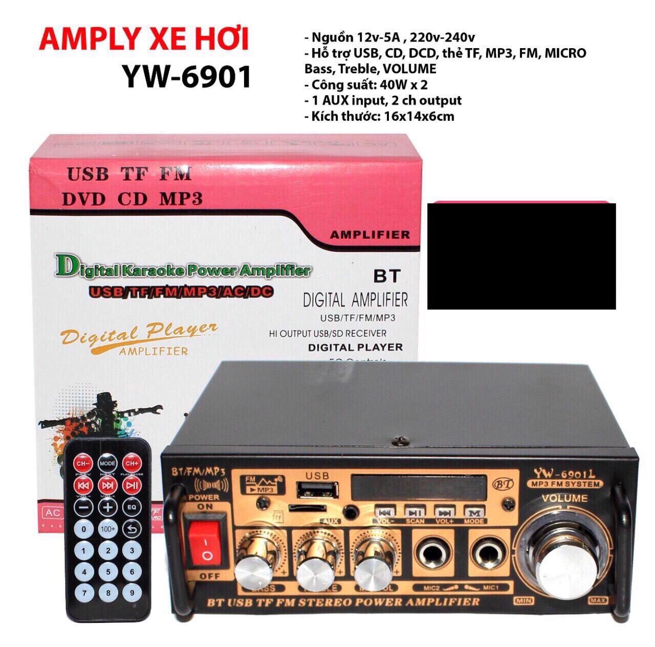 [HCM]Amply Karaoke Dàn Karaoke Âmply Giá Rẻ điện máy XANH AmpLy Cho Tất Cả Các Dòng Xe Hơi  Bộ Khuếch Đại Âm Thanh Bộ Âmly Cho Xe Hơi Cao Cấp Ampli 12V 220V Bluetooth Đa Chức Năng Âm Thanh Cực Chất  Siêu Bền Đẹp