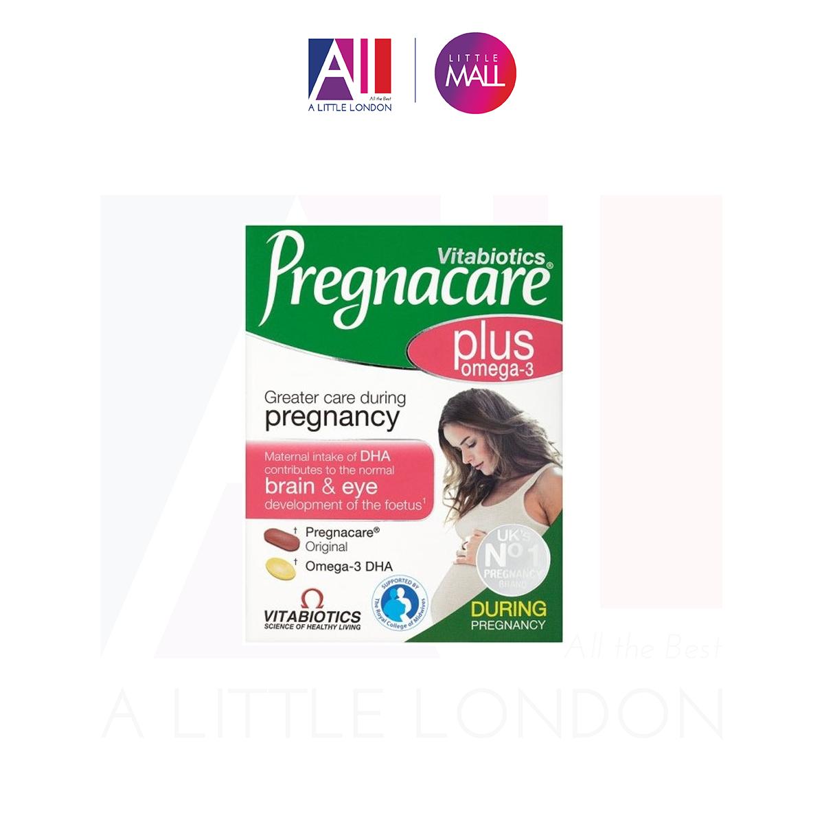 Bổ sung Omega 3 DHA trong quá trình mang thai Vitabiotics Pregnacare Plus Omega 3 - 56 viên (Bill Anh)