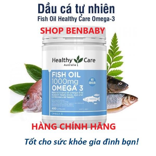 Omega 3 Úc, Fish oil 1000mg omega 3 Healthy Care Úc, dầu cá Omega3