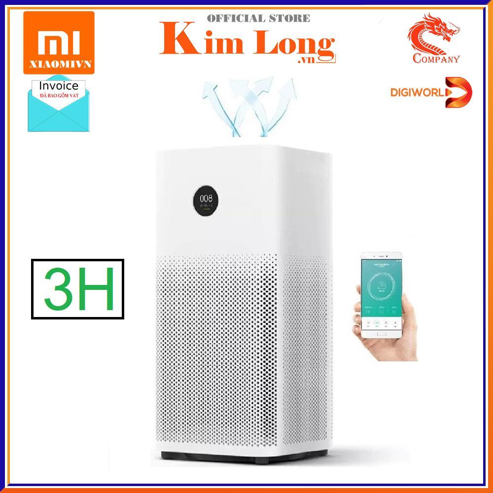 Máy lọc không khí Xiaomi Air Purifier 3H lọc siêu bụi mịn 0.3μm bao gồm hạt PM 25  khử mùi - Bản quốc tế - Bảo hành 12 tháng