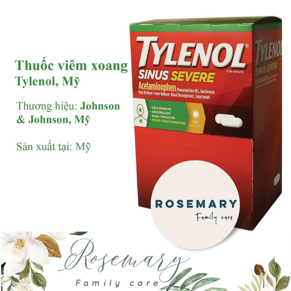 [HCM]Viên uống TYLENOL_SINUS_MỸ hỗ trợ viêm_xoang_