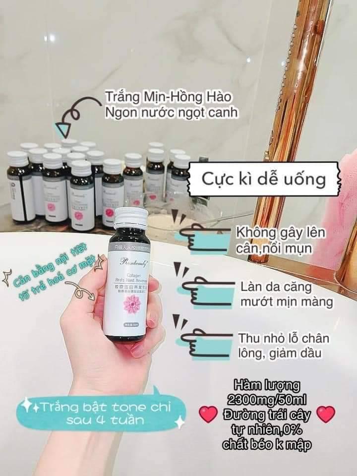 Nước Uống Collagen Yến Trắng Da Rose Beauty