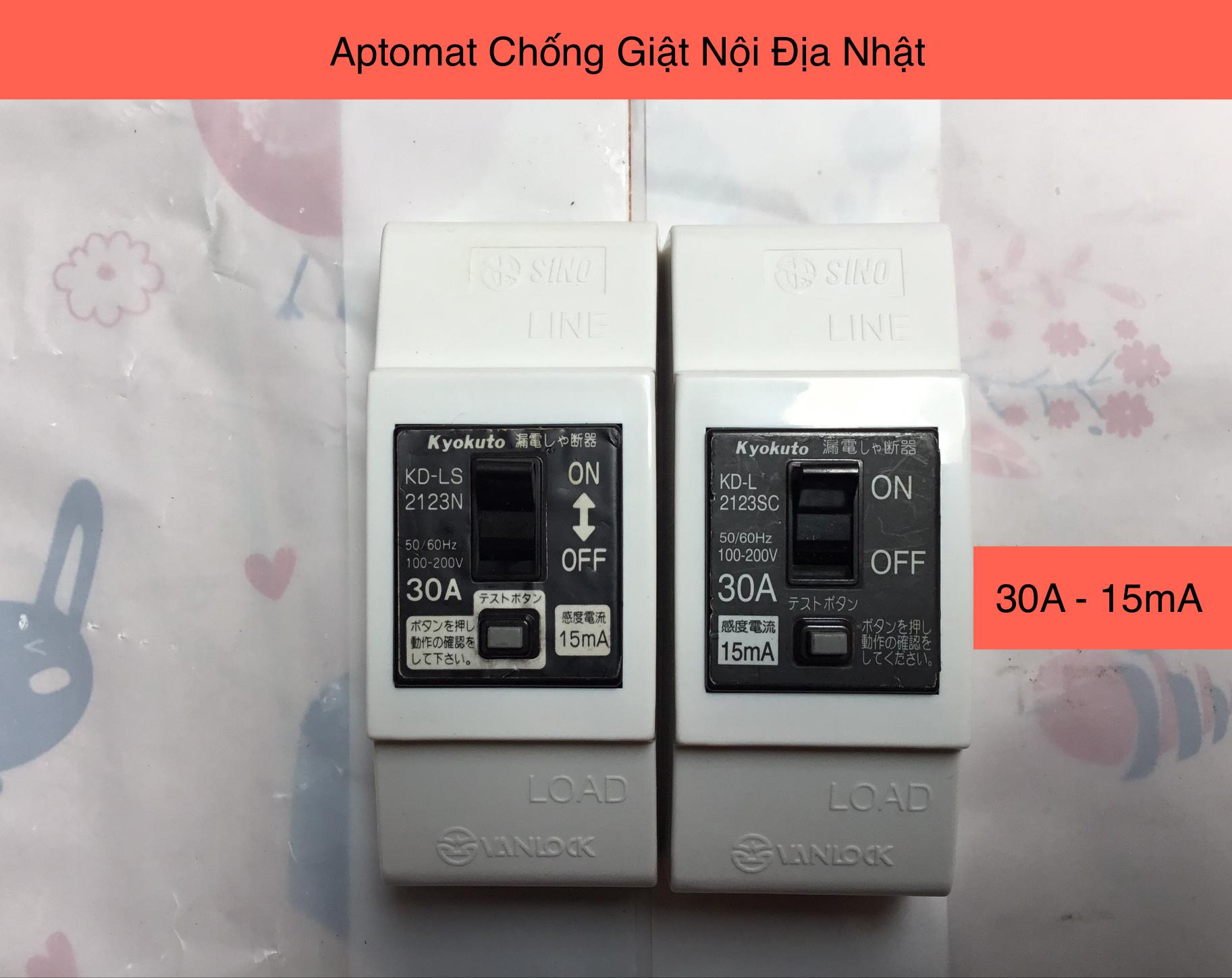 CB Chống Giật - Aptomat Chống Giật Nội Địa Nhật 30A 15mA