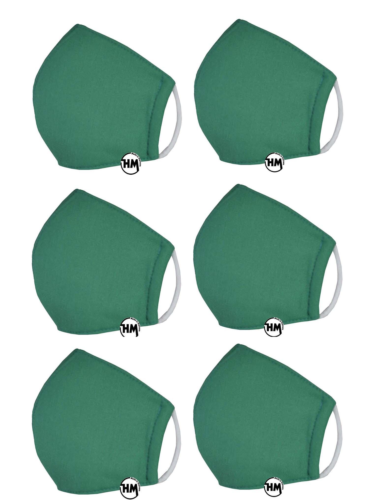Combo 6 khẩu trang vải Việt Nam loại tốt chống bụi chống độc nhẹ giúp ngăn ngừa virus vi khuẩn ...