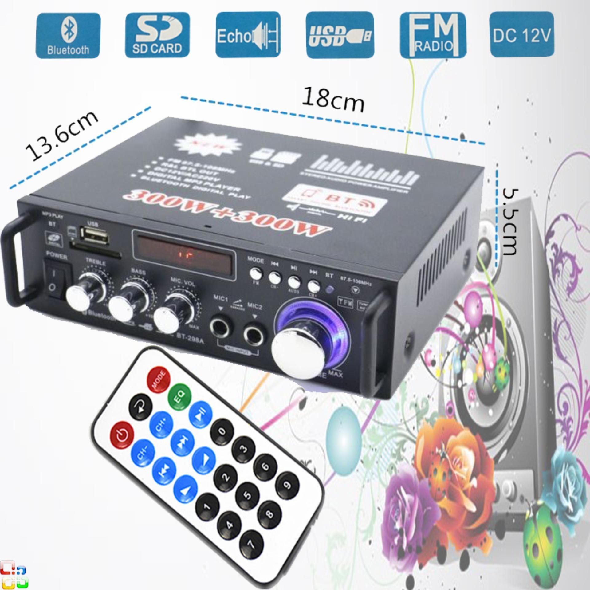 Âm Ly Nội Địa,Amply Bluetooth Tely-Jbv253 Cao Cấp Tiện Lợi (Giảm-50%) Thiết Kế Tinh Tế Cổng Usb,Sd Card,Radio.Tích Hợp Kèm 2 Cổng Mic Karaoke.Bh 1 Đổi 1 Mẫu 85